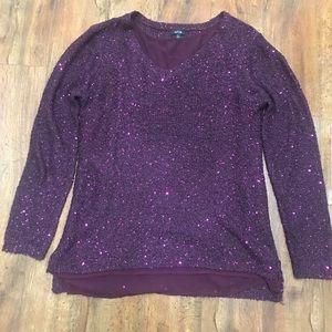 Apt 9 sequin sweater